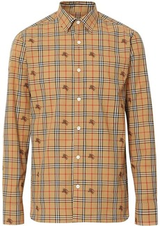 Burberry Equestrian Knight Check Cotton Shirt