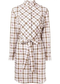 Burberry equestrian knight check shirt dress