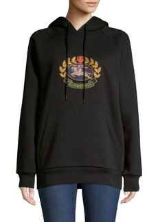 Burberry Esker Embroidered Logo Hoodie