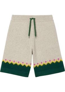 Burberry Fair Isle knitted shorts