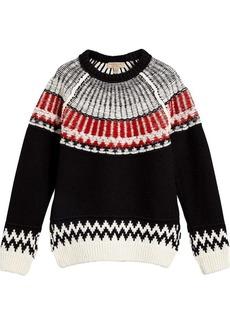 Burberry Fair Isle wool cashmere sweater