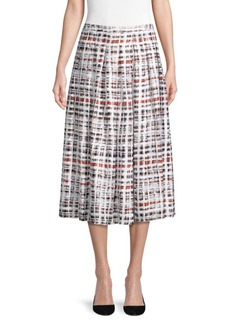 Burberry Farnborough Pleat Print Skirt