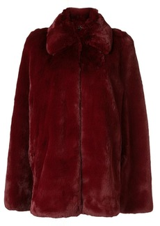 Burberry faux-fur cape jacket