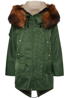 Burberry Faux Fur-trimmed Shell Parka