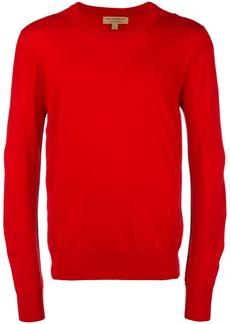 Burberry fine knit crew neck sweater