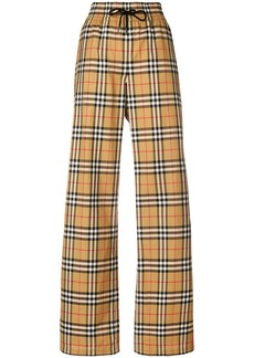 Burberry flared checked trousers