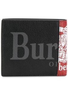 Burberry foldover logo wallet