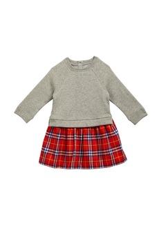 Burberry Francinie Sweatshirt & Plaid Skirt Dress
