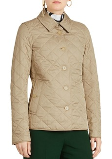 Burberry Frankby Diamond Quilted Button-Front Jacket