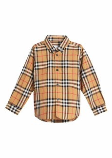 Burberry Fred Long-Sleeve Check Shirt