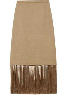 Burberry fringed A-line skirt