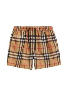 Burberry Galvin Check Swim Shorts
