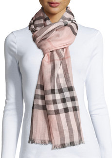 Burberry Gauze Giant Check Scarf  Rose