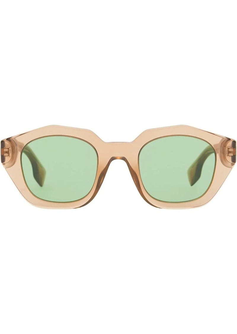 Burberry Geometric Frame Sunglasses