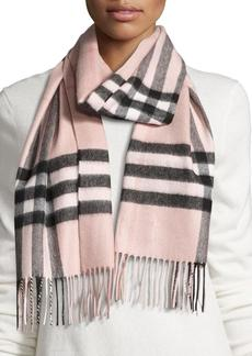 Burberry Giant Check Cashmere Scarf  Rose