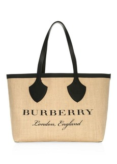 Burberry Giant Printed Tote