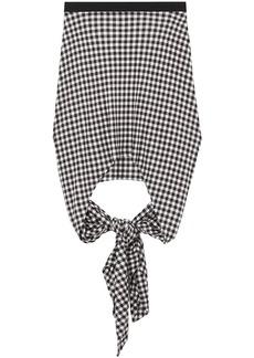 Burberry gingham check back tie skirt