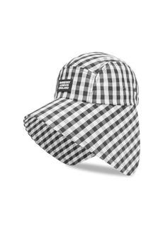 Burberry Gingham Logo Bonnet Hat