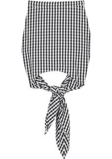 Burberry gingham scarf-tie mini skirt