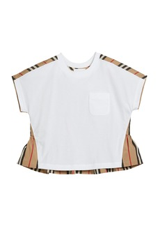 Burberry Girl's Delilah Jersey & Icon Stripe Top  Size 3-14