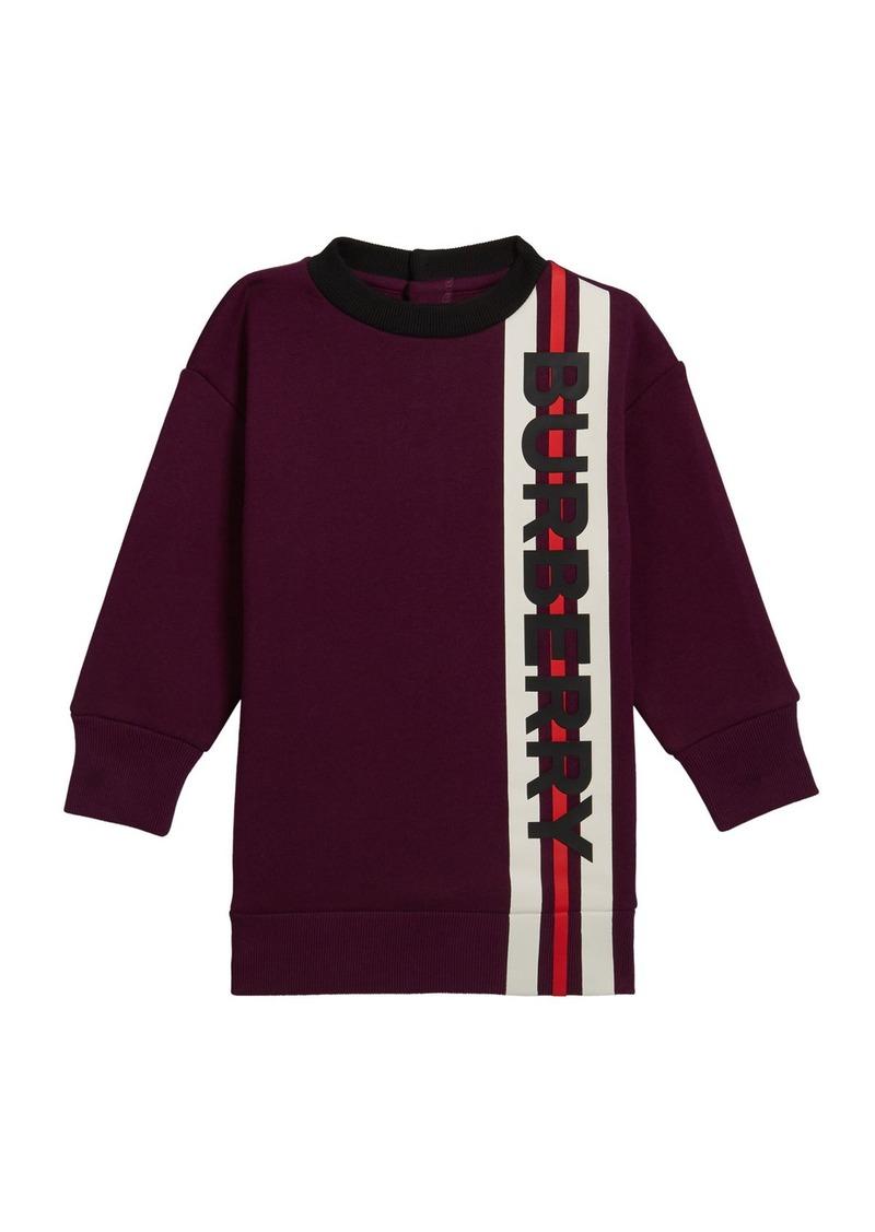 Burberry Girl's Letisha Striped Logo Sweatshirt Dress  Size 6M-2