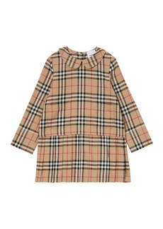 Burberry Girl's Melania Flannel Check Dress  Size 3-14