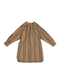 Burberry Girl's Melody Icon Stripe Shirt Dress  Size 3-14