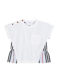 Burberry Girl's Mini Delilah Icon Stripe Back Jersey Top  Size 6M-2