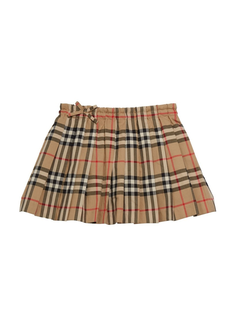 Burberry Girl's Pearly Archive Check Pleated Skirt  Size 3-14