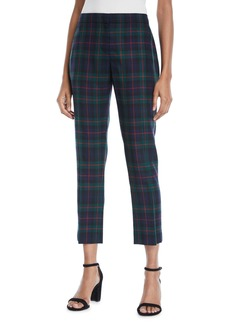 Burberry Glassbury Check Cropped Trousers