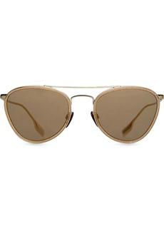 Burberry Glitter Detail Pilot Sunglasses
