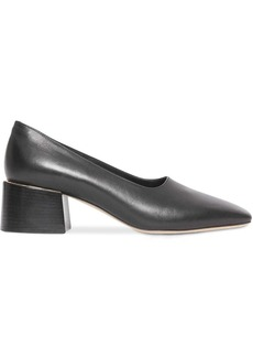Burberry Gold-plated Detail Lambskin Block-heel Pumps