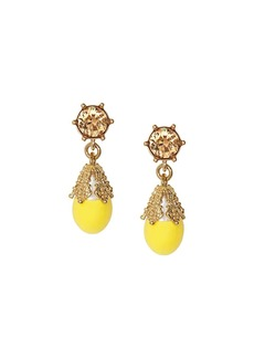 Burberry Gold-plated Faux Pearl Charm Earrings