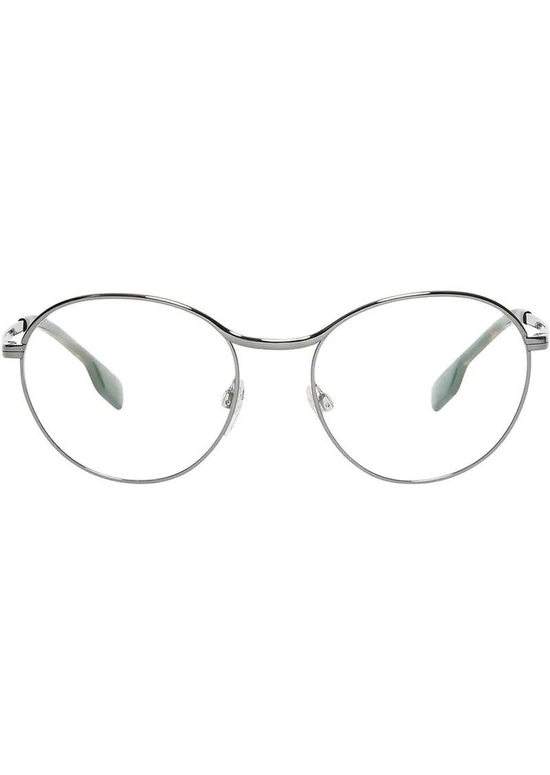 Burberry Gold-plated Round Optical Frames
