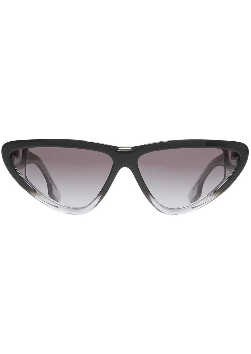 Burberry Gradient Detail Triangular Frame Sunglasses