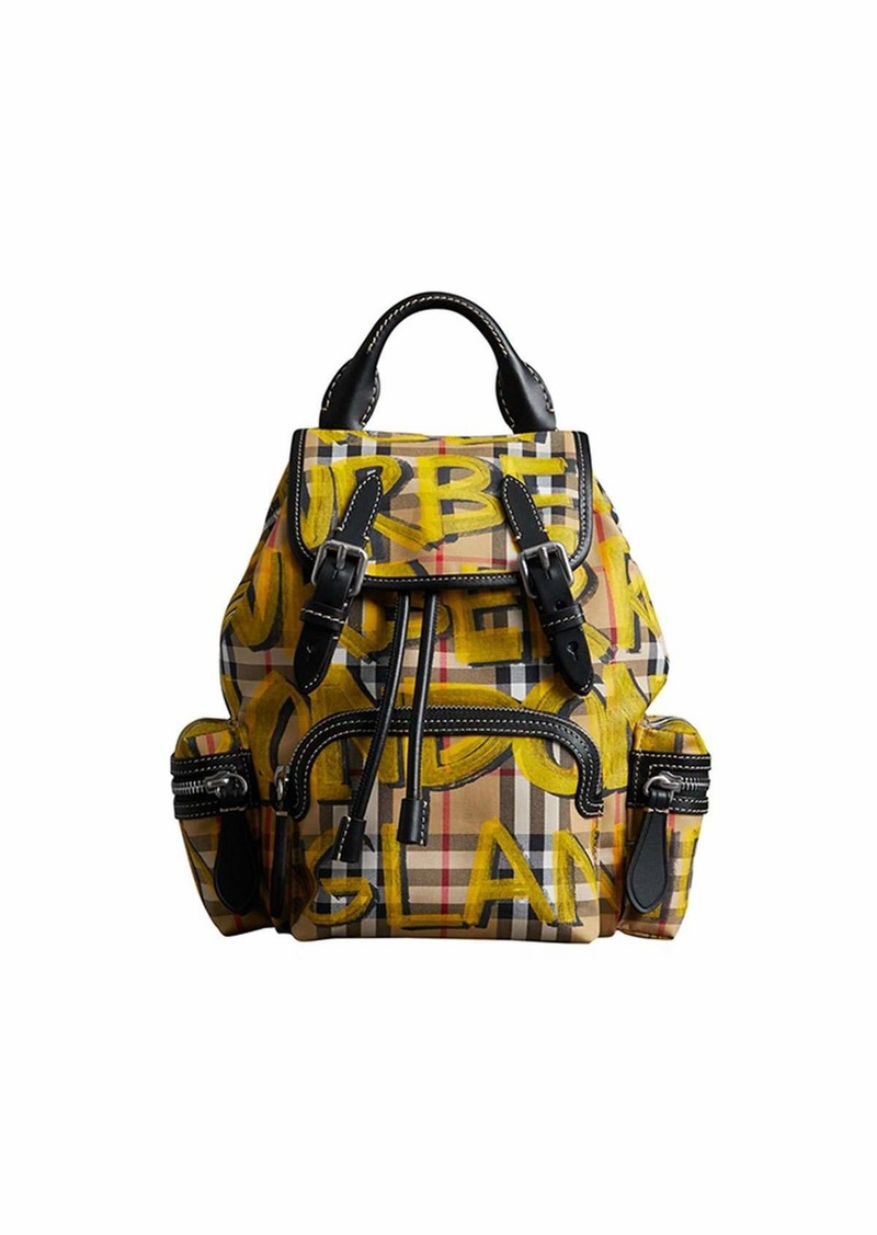 8ecd4ce121ee On Sale today! Burberry Graffiti Check-Print Small Rucksack Backpack