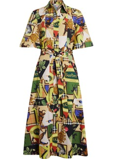 Burberry Graffitied Archive Scarf Print Shirt Dress