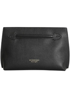 Burberry Grainy Leather Wristlet Clutch