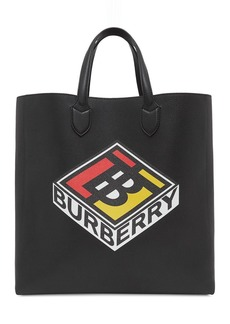 Burberry graphic logo large tote