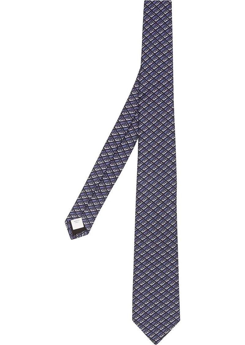 Burberry graphic logo tie
