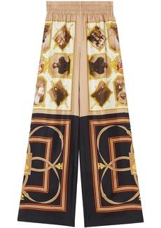 Burberry graphic print palazzo pants