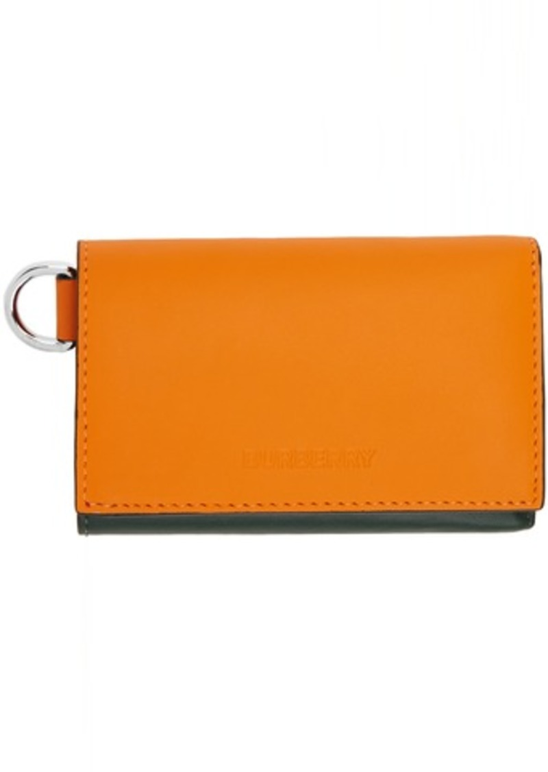 Burberry Green & Orange Finn Wallet