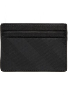 Burberry Grey London Check Sandon Card Holder