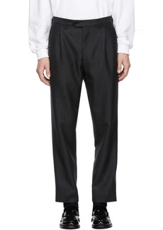 Burberry Grey Prince of Wales Trousers