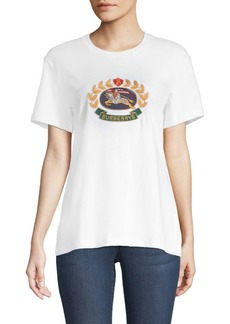 Burberry Gully Embroidered Logo T-Shirt