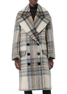 Burberry Halliday Double Check Wool Coat