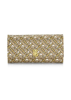 Burberry Halton TB Monogram Leather Continental Wallet