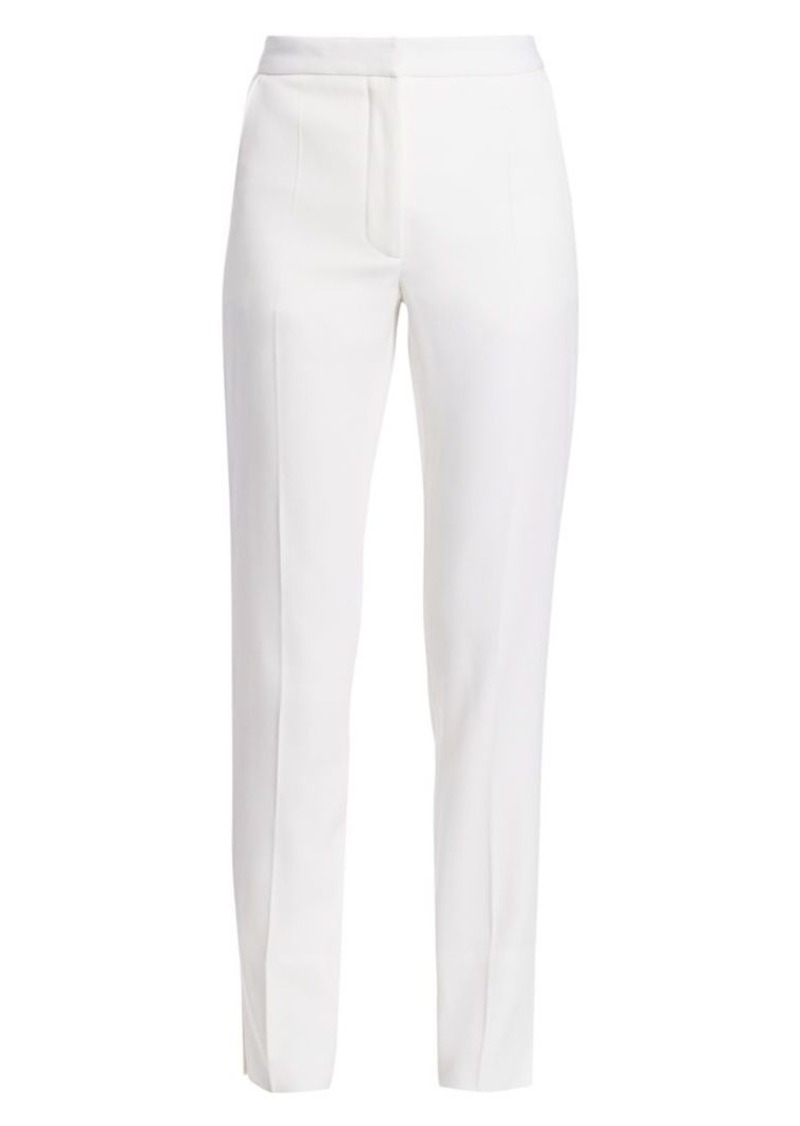 Burberry Harborough High-Waist Wool Pants