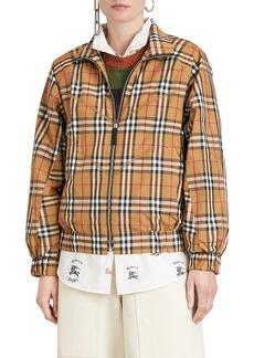Burberry Harrington Vintage Check Topstitch Jacket