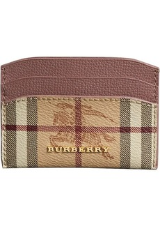 Burberry Haymarket Check and Leather Card Case